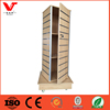 new design fashion accessories rotating wooden slatwall display