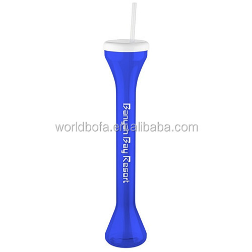 Plastic Long Neck Yard Cup With Straw