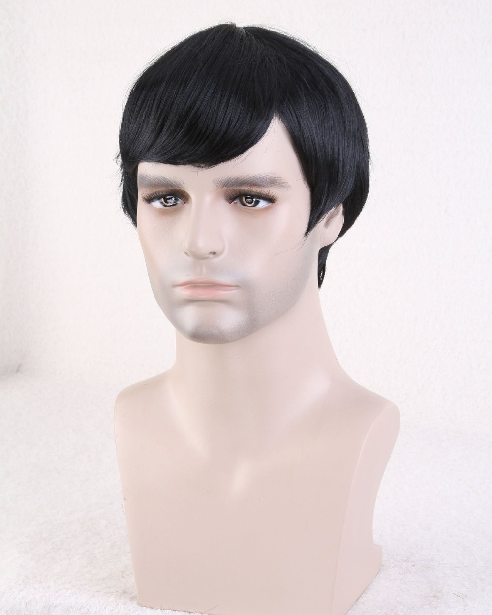 Buy Mens Wigs Short Hair Men Synthetic Hair Extensions Male Wig