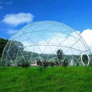 Luxury waterproof white cover clear mini dome tent, geodesic dome tent with clear pvc fabric
