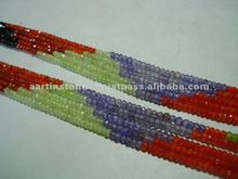 Cubic zirconia faceted rondelle gemstone beads
