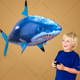 Remote Control Flying Shark & Fish Swim Through The Air Toy For Kids Indoor & Outdoor (YK001)