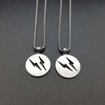 2019 new design fashion pendant necklace wholesale custom logo lightning bolt necklace