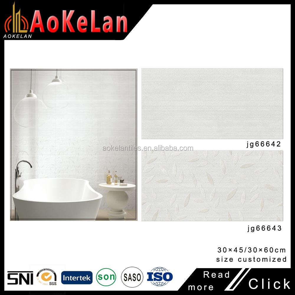 Glazed Porcelain From Foshan Interior Bathroom Tile 20 X 30 Cm Wall ...