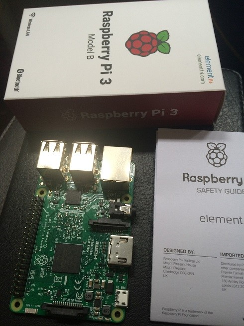 raspberry pi 2 model B board integrated circuits