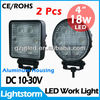 12v led light 18w Round off road vehicle 4x4 truck lights
