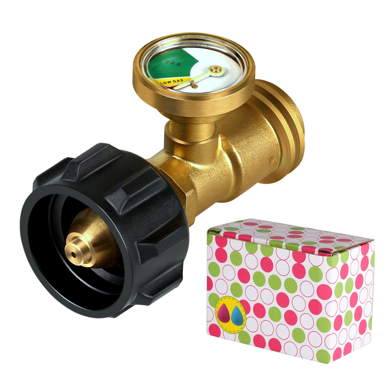 MYSWEETY Propane Gauge, Propane Tank Gauge/Leak Detector for QCC1/Type1 Propane Tank Cylinders Gas Pressure Meter