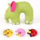 Cute Neck Pillow Travel Soft Neck Support Pillow Decorative Elephant Kid Animal Shape 3D Animal Kids Cartoon Neck Pillow