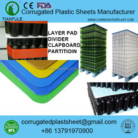 polypropylene corrugated plastic separators for bottle pallet