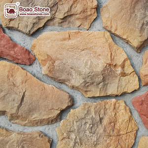 Artificial ashlar rocks stone thin slab stone veneer