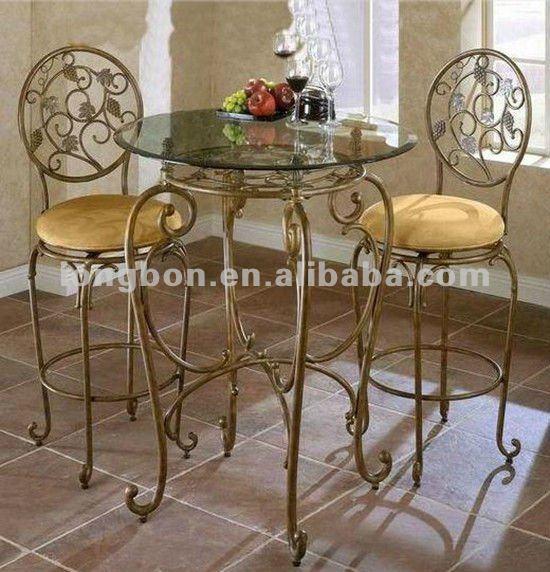 Top venta forja hierro antiguo mesa y silla base mesas de for Comedores hierro forjado
