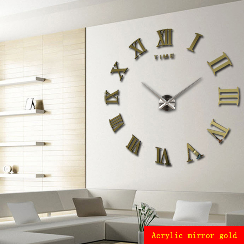 Home Decoration Meters Large Roman Numerals Affixed Mirror