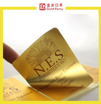 Chinese Factory Cheap Custom Printed Self Adhesive Shiny Gold - Custom gold foil stickers