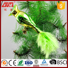 Europe popular hot sale glass crafts bird ornaments for decoration