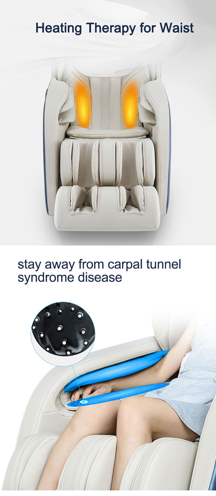 ขายส่งไฟฟ้า 3D Zero Gravity เก้าอี้นวดร่างกายเต็มรูปแบบถุงลมนิรภัย
