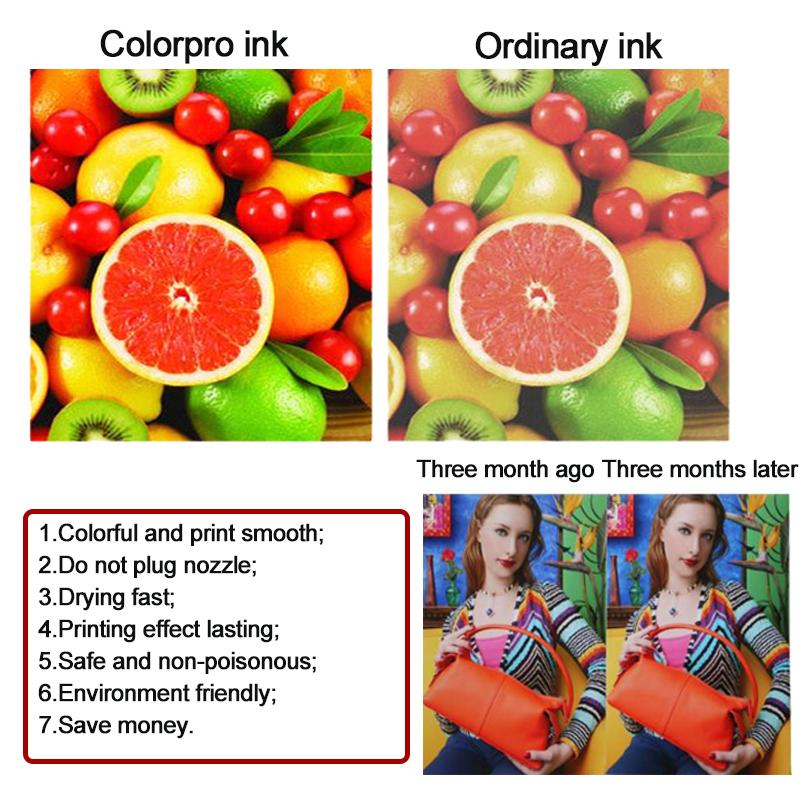 Colorpro 4 צבע UV דיו תואם עבור 10XARE סדרת UV מדפסת מערכת 1000ml פרימיום דיו