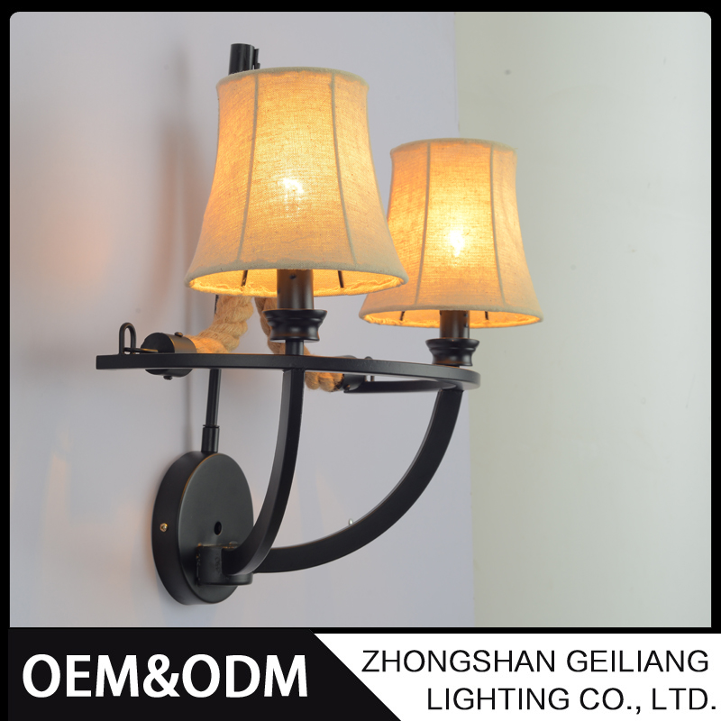 Crafty new design refined for bedroom vintage small in wall lamp for hotel