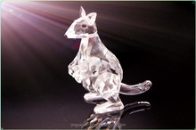 Crystal Christmas Gift Crystal Kangaroo model Glass Figurine