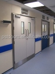 Insulated Hospital Room Door with stainless push plate