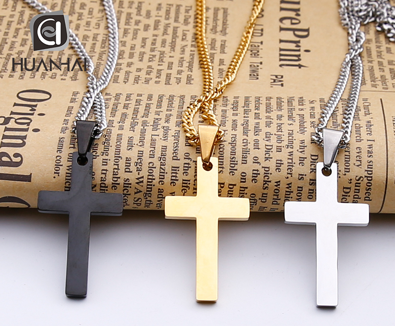 wholesale custom name personalised men luxury cross chain silver gold plated necklace jewelry