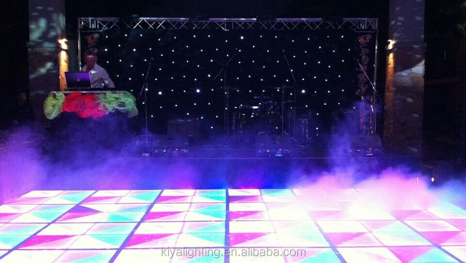 Portable Dance Floor With Lights : Professional colorful portable led dance floor for sale