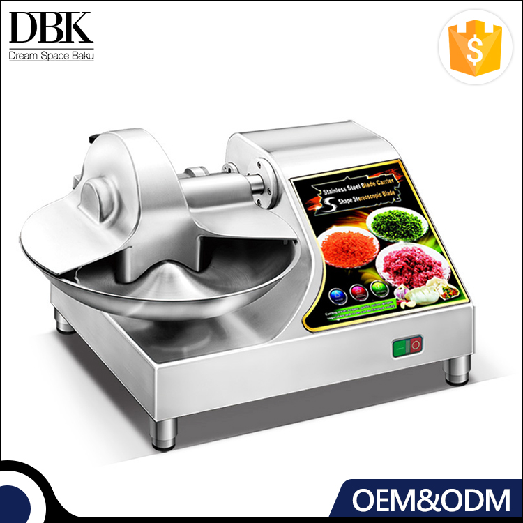 Aluminum alloy body sale vegetable/ meat Bowl Cutter machine with s shape stain steel blade