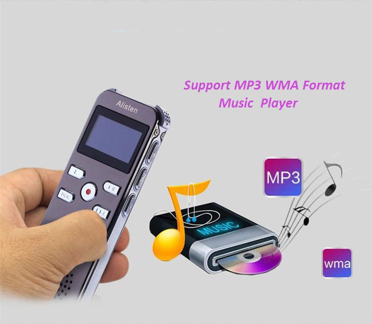 X26 micro mp3 player 4GB Professional voice recorder long time voice recorder