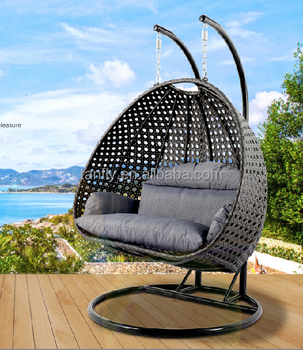 Luxury Outdoor 2 Person Garden Pod Hanging Chair Double Seater With