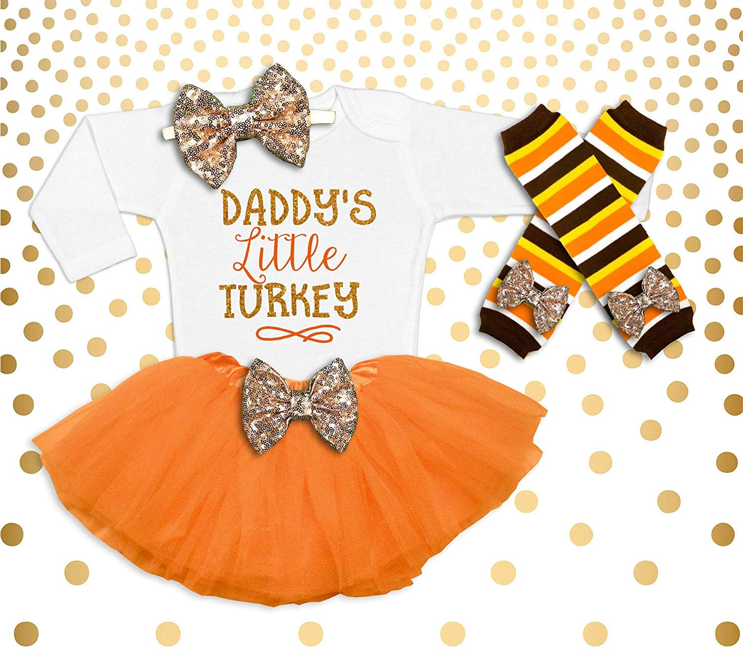 2b5742307f85 Get Quotations · Thanksgiving Outfit Baby Girl Baby Girl Thanksgiving  Girl s Thanksgiving Outfit Baby Girl Thanksgiving shirt Daddy s Little