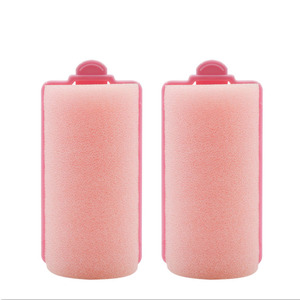 Wholesale soft foam plastic hot water durable safety sponge hair roller