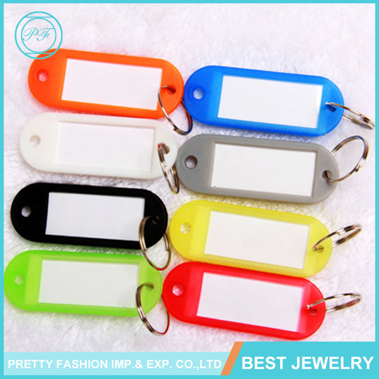 Wholesale cheap price plastic keychain hotal room key tag