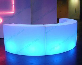 Lighted Led Mobile Curved Bar