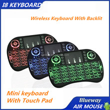 Hot Mini Wireless Keyboard RII I8 Mini Keyboard with touchpad 3 Color Night Light Keyboard 2.4G Air Mouse