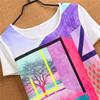 Comfortable cotton best friends t shirt lady Screen 3d t shirt printing export clothes