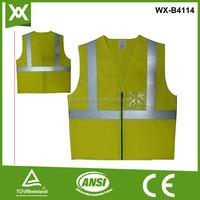 Running reflective vest work jacket safety nylon jacket fabric