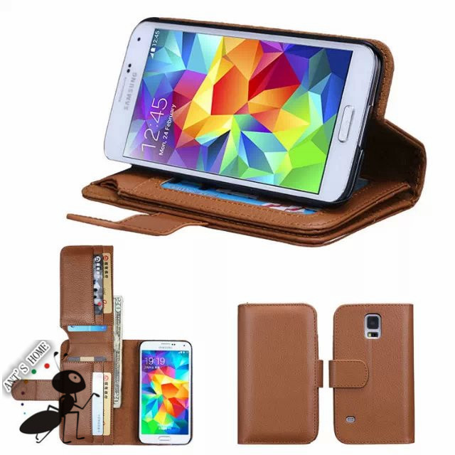Popular 7 Card Holders Fundas For Samsung Galaxy S5 Case Cover Flip Luxury Leather Cell Phone Cases For Samsung Galaxy S5 G9006