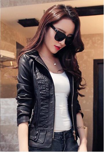 С a капот женщины кожа куртка пальто женщины в кожа одежда весна и осень куртка приталенный верхняя одежда женщины в куртка