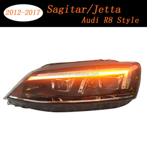 Hot selling car accessories for 2012-2017 year LED Fit for VW Sagitar/Jetta Audi R8 style with Hellas 5 dual lens