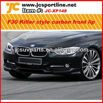 Killer Style Carbon Fiber Front Bumper Lip For Bmw F30 Standard Bumper Car  Front Spoiler Splitter Lip - Buy Front Bumper Lip For Bmw F30,For Bmw F30