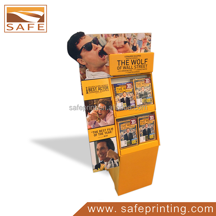 Paper Cardboard Brochure Magazine Holder Shelf Display Stand Rack