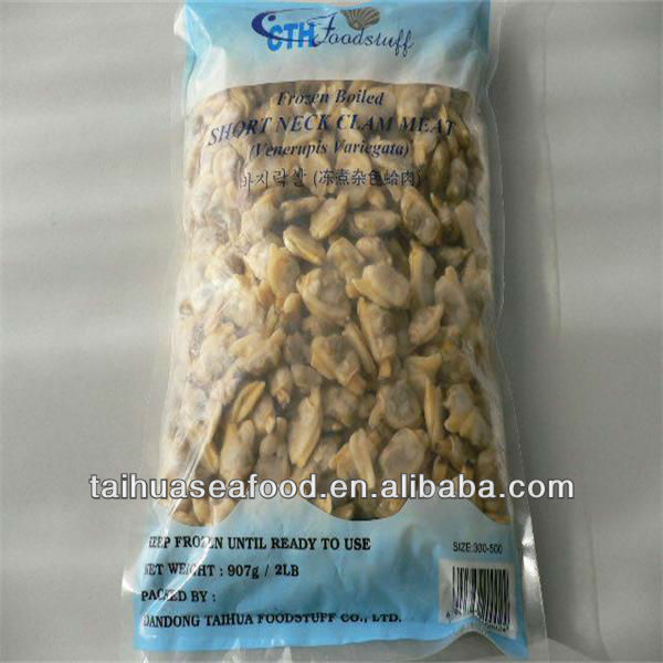 Frozen and Cooked Baby Clam Meat (color bag)