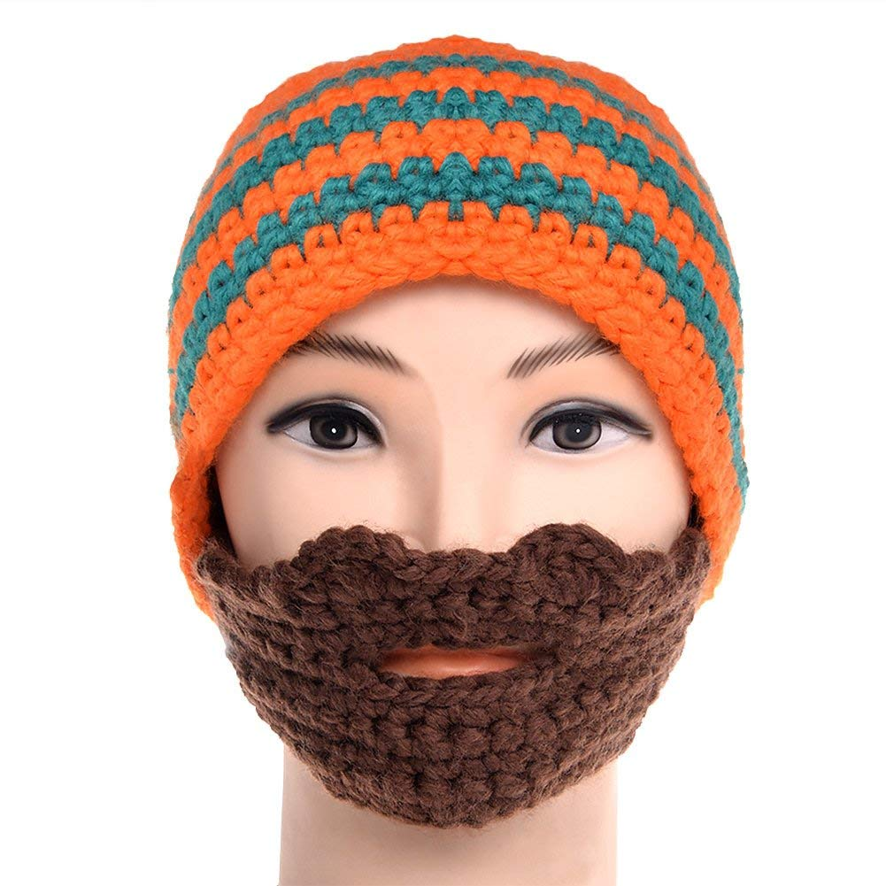 2f6061a0e78 Get Quotations · VBIGER Beard Hat Beanie Hat Knit Hat Winter Warm Octopus  Hat Windproof Funny For Men