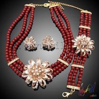 jewelry set indian pakistani jewelry company in guangzhou red beautiful bead jewelry sets
