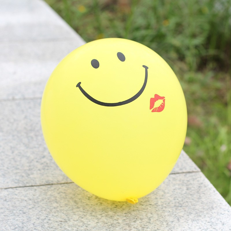 hot sale custom yellow smile face balloons latex directly sale