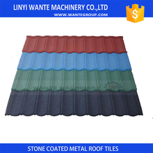 2017 New stone coated steel roofing vs asphalt shingles with high quality