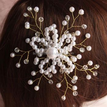 Viele Chinesische Kunststoff Perle Perlen Band Stirnbander Braut