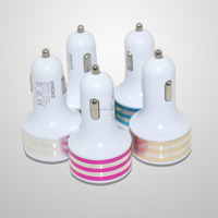 Micro Auto Universal 4 Port USB Car Charger For iPhone iPad iPod 3.1A Car Charger Adapter