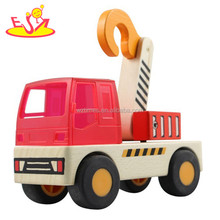 wholesale fashion wooden truck crane toy high quality baby wooden truck crane toy best wooden truck crane toy W04A062