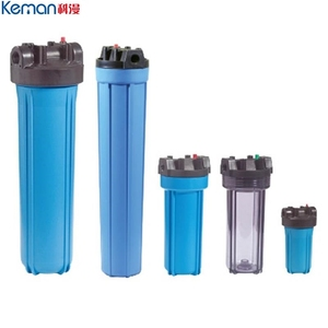 10 20 inch AS PP PET material blue white transparent plastic water filter housing