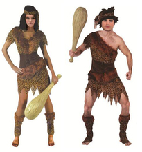 Halloween autochtones l'homme primitif Indien sauvage cosplay costumes